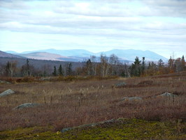 The Barren Mountains in the distance, visible from fields