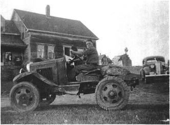 Tom Cowett on tractor
